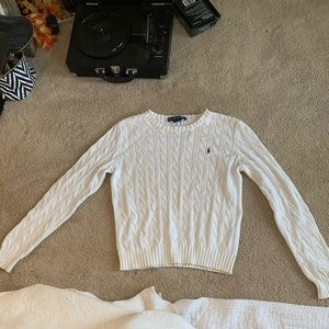 Vintage white Ralph Lauren sweater medium
